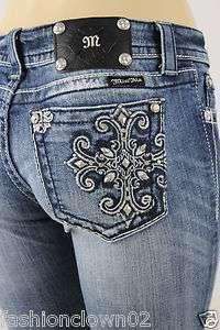 Miss Me Womens Jeans NWT JP5361T MK35 Straight Leg ,