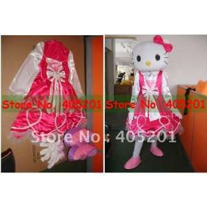 rose dress hello kitty mascot costumes for party hello kitty