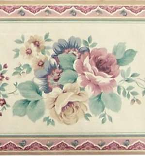 Country Flower Wall Border Purple Flowers Floral Bath 5