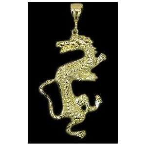 Hip Hop Chinese Dragon, Gold  Free Chain