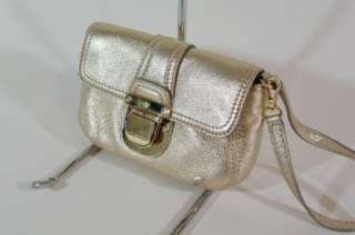 Michael Kors Charlton Demi Pale Gold Leather Wristlet Handbag
