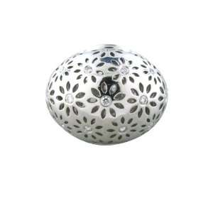 Morelli White gold New Paul Eyelet Diamond Dome Ring