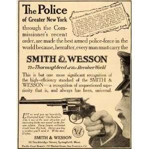 York .38 Calibre Wesson Revolver   Original Print Ad Home & Kitchen