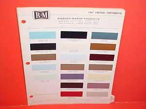 1967 LINCOLN CONTINENTAL FORD THUNDERBIRD PAINT CHIPS