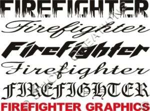 FIREFIGHTER Windshield Sticker Decal Graphic Window Car