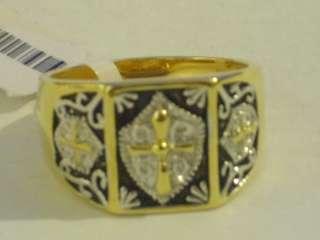 Silver Knights Templar Masonic Crest Ring