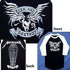 METALLICA SEEK & DESTROY TOUR 2008 09 JERSEY RAGLAN SHIRT XL NEW
