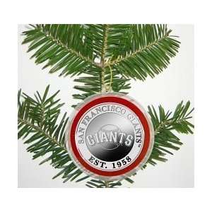 San Francisco Giants Silver Coin Ornament Sports