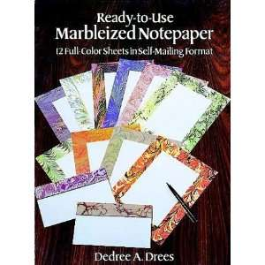Ready to Use Marbleized Notepaper: 12 Full Color Sheets in