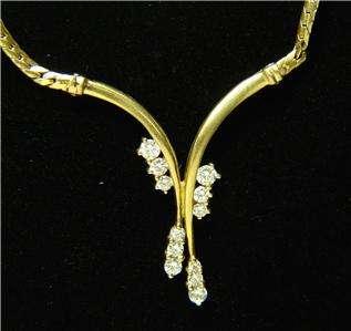 MAYORS ROUND CUT DIAMOND 18K YELLOW GOLD NECKLACE