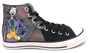 ALL STAR HI DC COMICS Joker Batman sz US 8.5/ Fr 42 Chuck Taylor Black