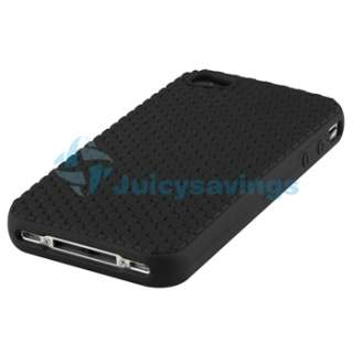Black Matting Silicone Skin Cover Case for iPhone 4 4G