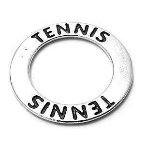 .925 Sterling Silver Tennis Ring Charm or Pendant