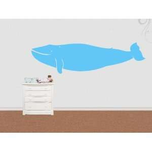 Wall Sticker Decal Blue Whale 200cm 2 meters