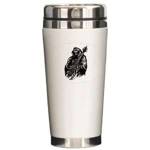 Travel Drink Mug Grim Reaper Heavy Metal Rock Player