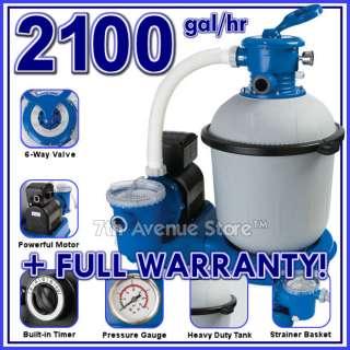 Intex 2100 gph Easy Set Swimming Pool Sand Filter Pump