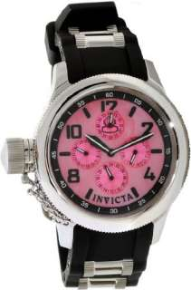 NEW INVICTA LADIES RUSSIAN DIVER PINK MOTHER OF PEARL DIAL LEFTY WATCH