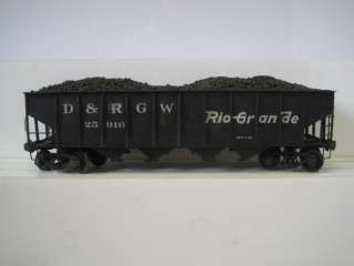 BRASS O SCALE 2 RAIL D&RGW #25916 RIO GRANDE HOPPER w/COAL LOAD