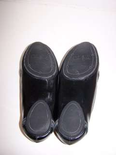 Cole Haan black patent leather loafer flat shoes 7.5 B