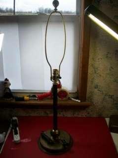 Vintage Art Deco Machine Age Metal Desk,Table Lamp