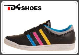 Adidas Top Ten Low Sleek W Black Colorful Stripes Shoes G46318
