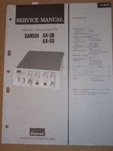 Sansui Service Manual~AX 3B/3S Sound Consolee |