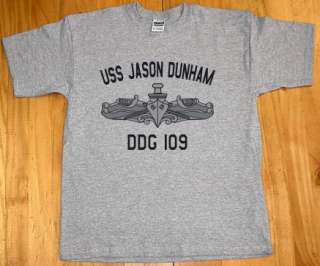 US USN Navy USS Jason Dunham DDG 109 Destroyer T Shirt