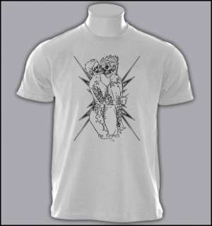 TATTOO ART TATOO FLASH MACHINE GUN LOVE T SHIRT S XXL