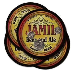 JAMIL Family Name Beer & Ale Coasters