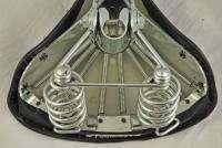 Vintage Brooks 3 speed black bicycle bike springer saddle Lightweight