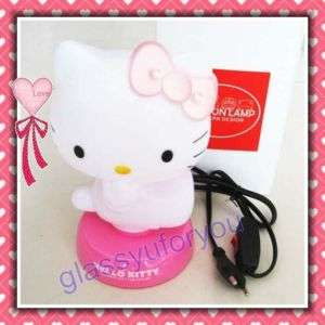 New LED Hello Kitty Night Sleeping Desk Light Lamp
