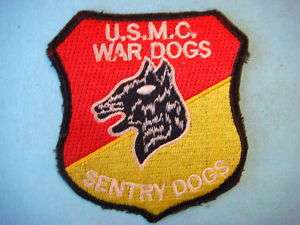 VIETNAM WAR PATCH, U.S.M.C WAR DOGS SENTRY DOGS