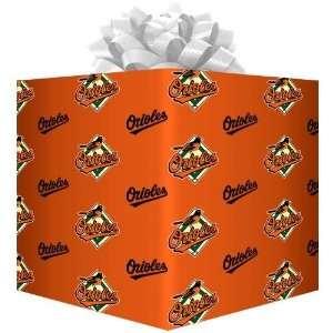 Baltimore Orioles Orange Logo Gift Wrap Paper Sports