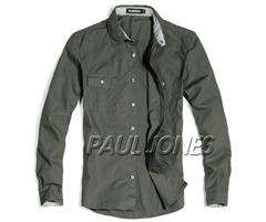 PJ High Quality Mens Premium Casual Dress Shirts Long Sleeve Slim Fit