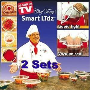 Chef Tonys Smart Lidz   2 Sets of 4 Home & Kitchen