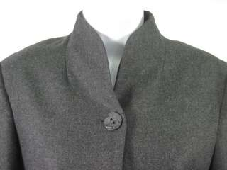 KRIZIA Wool Dark Gray Blazer Skirt Suit Outfit