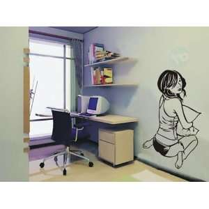 Large  Easy instant decoration wall sticker look at me