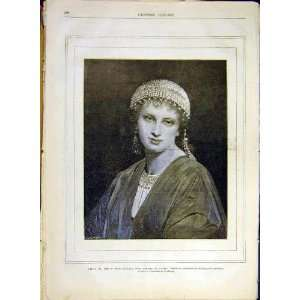 Portrait Venetian Lady Landelle French Print 1880