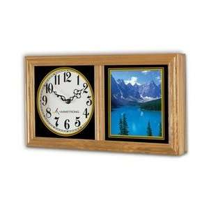 #821    Chesapeake Wood Wall Clock   9 H x 16 1/2W