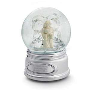 Personalized Angel Ribbon Snow Globe Gift