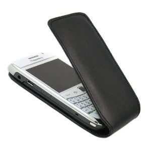 iTALKonline PREMIUM LEATHER BLACK Clip On Flip Case/Cover