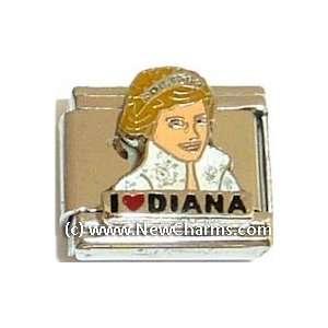 I Love Diana Italian Charm Bracelet Jewelry Link Jewelry