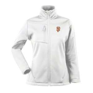 San Francisco Giants Womens White Traverse Bonded Soft Shell Jacket