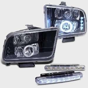 Halo Projector Head Light+led Bumper Fog Lamp Pair New Set Automotive