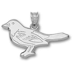 Baltimore Orioles MLB Bird 5/8 Pendant (Silver)  Sports