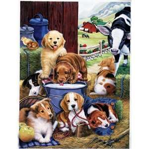 Puppy Hay Day Jigsaw Puzzle 750pc Toys & Games