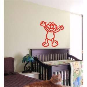 ELMO CARTOON KIDS WALL ART STICKER BABY ROOM NURSERY 25