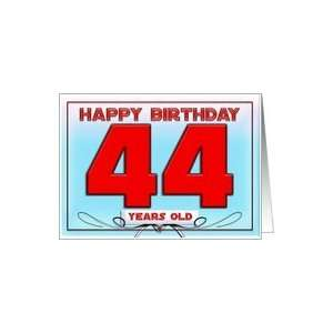 Happy birthday   44 years old Card Toys & Games
