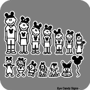 ... Disney Family Car Decals Stickers Graphics Patio, Lawn ...