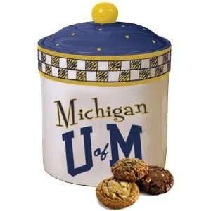 Memory Company Michigan Wolverines Ceramic Cookie Jar
